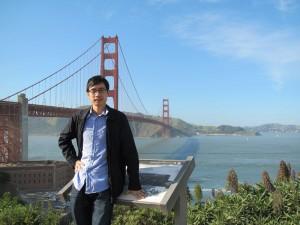 In front of Golden Gate Bridge