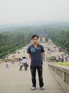 Me at Nanjing's Sun Yat-Sen Mausoleum