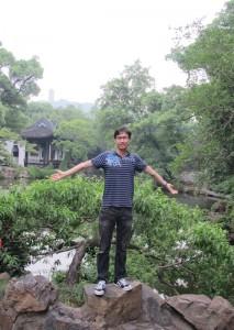 Me at Wuxi's Xihui Garden