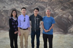 With my brother and parents at Death Valley