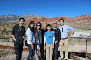 With my cousins and grandparents at Red Rock Canyon