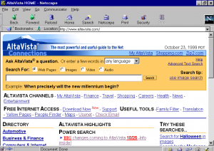 This was the most popular search engine before Google