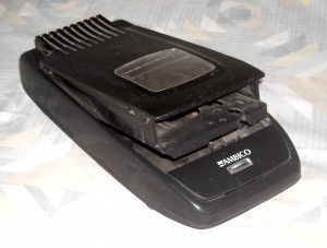 A VHS tape rewinder, a piece of 'legacy' tech