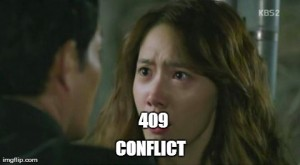 HTTP 409 CONFLICT