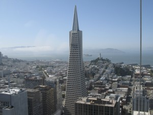 My office was beside the Transamerica Pyramid