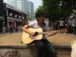 Busking in Hongdae