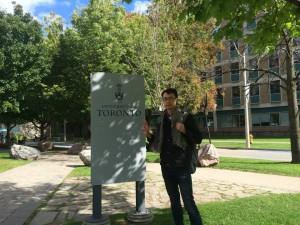 At my alma mater, the University of Toronto