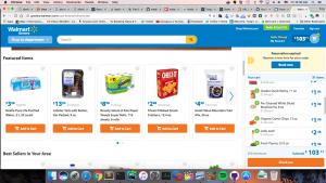 Walmart Grocery homepage